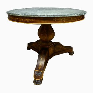 Antique Charles X Pedestal Table
