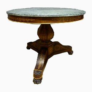 Antique Charles X Pedestal Table