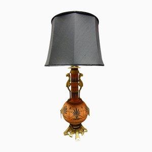 Lámpara antigua de porcelana