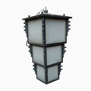 Mid-Century Iron Lantern
