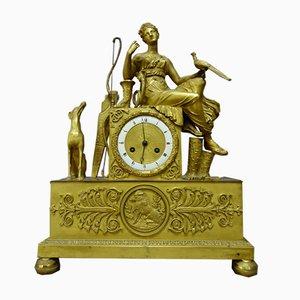 Reloj antiguo de bronce dorado