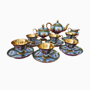 Antique Coffee Porcelain Set by Jacob Petit
