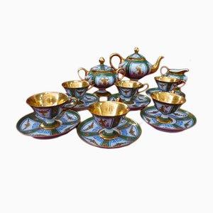 Juego de café antiguo de porcelana de Jacob Petit