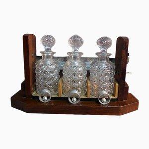 Juego de servicio para whisky de Baccarat, años 30