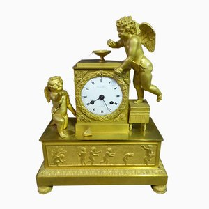 Antique Gilt Bronze Clock from Pienot Lachaise