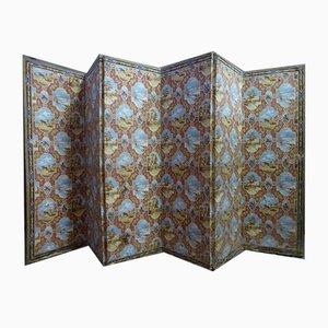 Antiker Raumteiler mit sechs Blättern