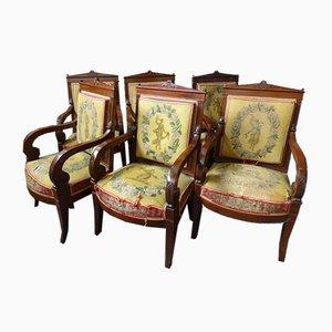 Antike Stühle, 6er Set