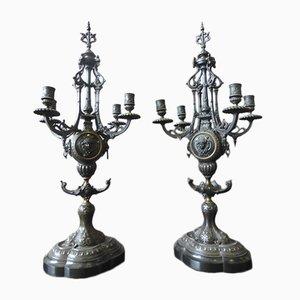 Bougeoirs Antiques, Set de 2