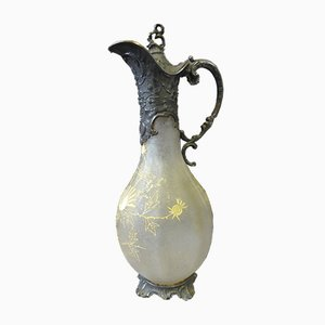 Vintage Glass and Silver Ewer