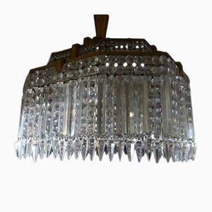 Lámpara de araña Baccarat vintage, años 30