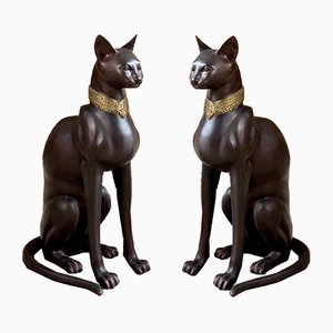 Art Deco French Bronze Sculptures by A. Toit, 1970s, Set of 2