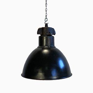 Industrielle Deckenlampe aus emailliertem Gusseisen von Elektrosvit, 1970er