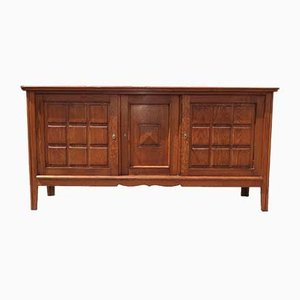 Art Deco French Oak Sideboard by Charles Dudouyt, 1940s