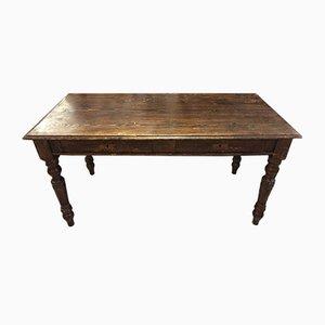 Antiker Esstisch aus Tannenholz