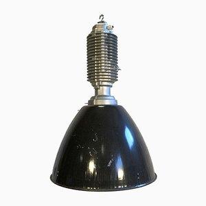 Industrial Aluminum and Enamel Ceiling Lamp, 1970s