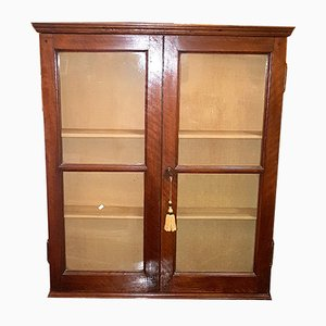 19th-Century English Walnut Vitrine
