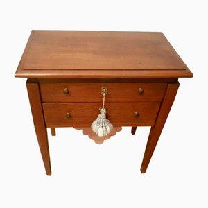Tavolino da lavoro antico in noce