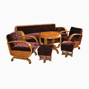 Art Deco Living Room Set, 1920s