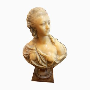 Antike Marie Antoinette Wachsskulptur