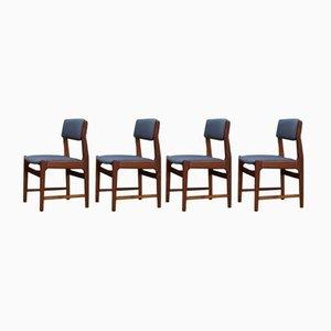 Mid-Century Danish Teak Dining Chairs, 1960s, Set of 4