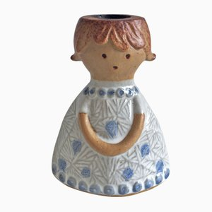 Candelabro de cerámica de Lisa Larson para Gustavsberg, años 70