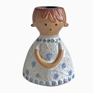 Portacandela in ceramica di Lisa Larson per Gustavsberg, anni '70