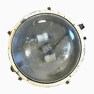 Aplique industrial de aluminio y vidrio esmerilado de Elektrosvit, años 70