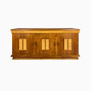 French Oak and Rope Sideboard by Adrien Audoux & Frida Minet, 1950s