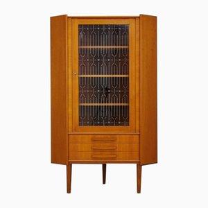 Mid-Century Danish Glass and Teak Cabinet, 1960s