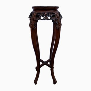 Mahogany and Marble Plant Stand, 1920s