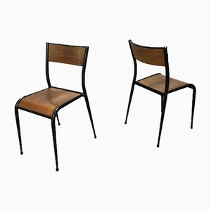 510 Dining Chairs from Mullca, 1940s, Set of 18