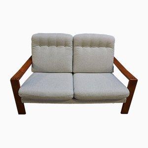 Modernes dänisches Sofa aus Tweed & Teak , 1970er