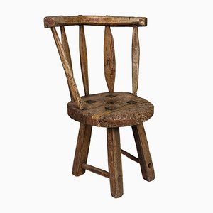 Antique Swedish Rustic Side Chair