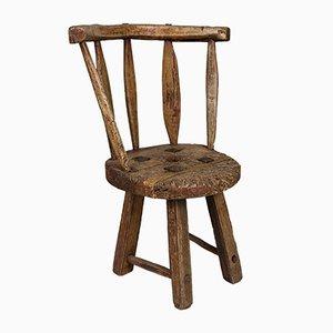 Rustikaler antiker schwedischer Beistellstuhl