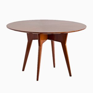 Italian Modern Mahogany and Burl Dining Table by Gio Ponti, 1950s