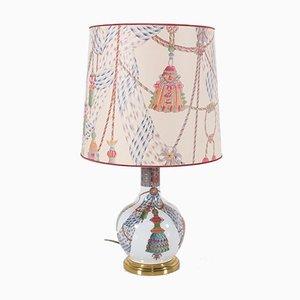 Bemalte Tischlampe von Porcelaine de Paris, 1980er