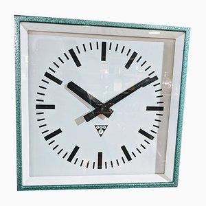 Mid-Century Industrial Steel Clock, 1950s