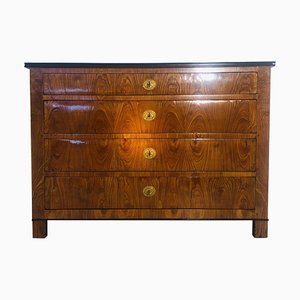 Antique Biedermeier Ash Chest of Drawers, 1850s