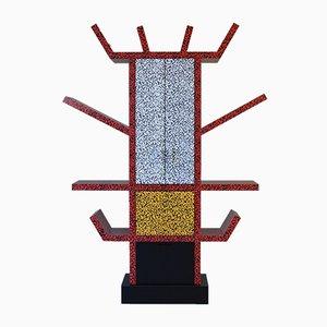 Estantería italiana moderna de madera y laminado de Ettore Sottsass, 1981