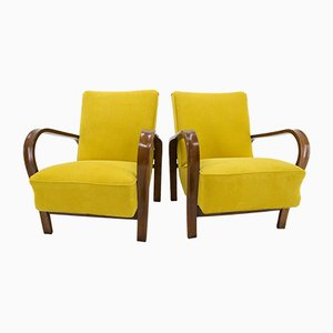 Art Deco Bentwood Armchairs by Antonin Kropacek & Karel Kozelka for Interier Praha, 1940s, Set of 2