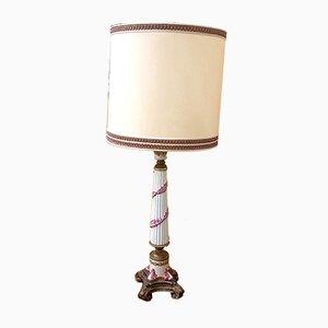 Lampe de Bureau Antique en Céramique, France