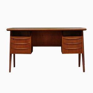 Dänischer Schreibtisch aus Teakfurnier von G.N. Tibergaard, 1970er