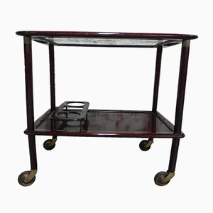 Mid-Century Italian Brass and Glass Trolley, 1950s