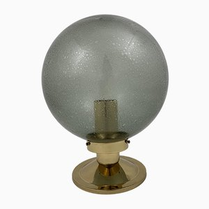 Mid-Century Model T472 Brass and Smoked Glass Ceiling Lamp by Hans-Agne Jakobsson for Hans-Agne Jakobsson AB Markaryd