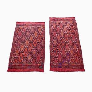 Kleine türkische Vintage Teppiche mit Diamanten-Muster, 2er Set