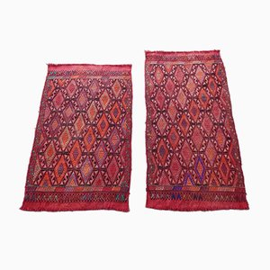 Small Vintage Turkish Diamond Pattern Rugs, Set of 2
