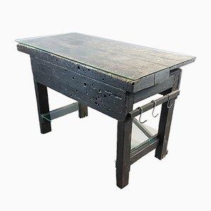 Tavolo da lavoro vintage in pino, anni '20