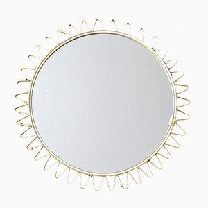 Espejo escandinavo con forma de sol, años 50