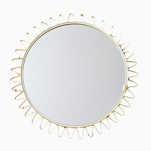 Scandinavian Sunburst Mirror, 1950s