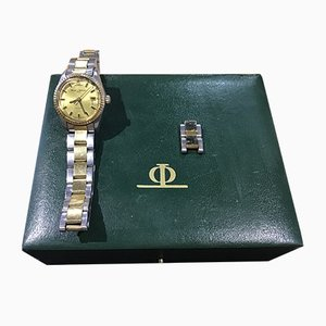 Horloge en Acier et Or de Baume & Mercier, 1970s